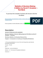 Business Statistics a Decision Making Approach 9th Edition by David F. Groebner – Test Bank