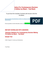 Business Statistics for Contemporary Decision Making 7th Edition by Black – Test Bank
