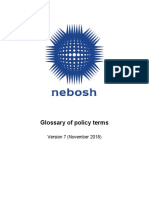 Ts Qa 011 Glossary of Nebosh Policy Terms v7 November 2018