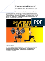 Exercícios Unilaterais Ou Bilaterais