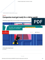 Companies Must Get Ready for a Riskier World - Security
