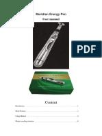 Manual para la utilización de pluma para estímulos eléctricos.