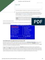 Desabilitando a Opção de Boot Seguro UEFI