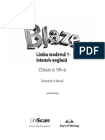 BLAZE Blaze Limba Modernă 1 Intensive Engleză Clasa a VII a Teacher s Book