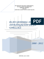 Plan General de Investigacion 2008 - 2012 Definitivo