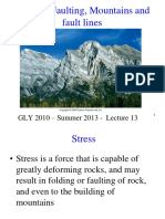(L13)Folding, Faulting, And Mountains E13