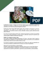 El Fiambre Declarado Patrimonio Cultural Intangible de La Nación