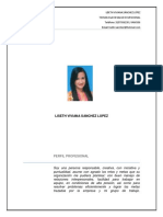 Hoja de Vida Liseth Sanchez Lopez Actualizada WORD