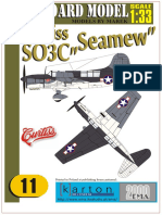Seamew paper model airplane