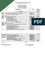 Budget of Work PR2 1st Qtr
