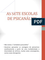 As Sete Escolas de Psicanalise (Slide)