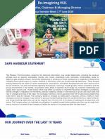 Hindustan Unilever Investor Presentation