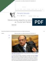 """Ministro Ensina Vergonha Na Cara e Civilidade Ao """"Escola Sem Partido"""""""