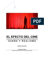 Nota de Prensa Exposicion El Efecto Del Cine Caixaforum Palma