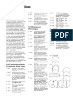 Reichert Micrometer Discs List