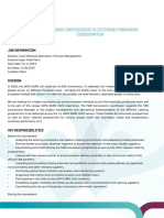 Data Overview - EURO 2020 Concessions & Catering Programs Coordinator