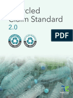 Recycled Claim Standard v2.0