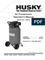Husky Air Compressor Operator manual