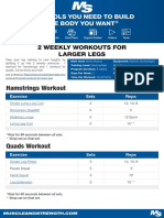2 Weekly Workouts for Larger Legs
