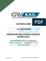 CP100-Mando MODBUS Manual_V1_2 2011