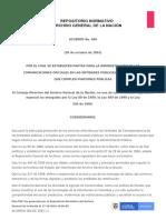 Acuerdo 060 de 2001