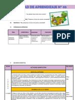 sesion pedagogica nivel inicial