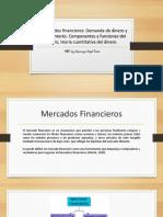Los Mercados Financieros y El Dinero