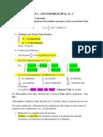 Cours 3 - Suite 3 - Les Ensembles de q - r - c