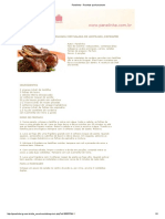 Costeleta de Cordeiro Gralhada Com Salada de Lentilha, Espinafre e Bacon