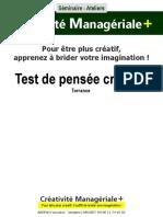 Test TORRANCE Creativite
