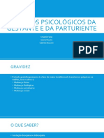 Aspectos psicológicos da gestante e da parturiente
