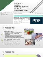 Epidemiología Molecular y Descriptiva de Parásitos Protozoarios Intestinales