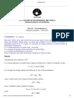 Lista termodinâmica