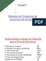 Metodos de Valuacion de Proyectos