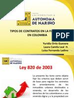 Diapositivas Tipos de Contrato-Finca Raíz