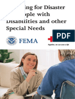 Preparing for Disaster for People With Disabilities and Other Special Needs