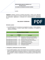 Informe Avances Archivo Central