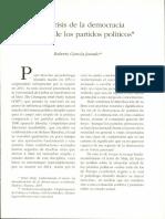 De La Crisis de La Democracia a La Crisis de Los Partidos Políticos