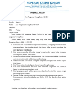 Internal Memo Pengadaan Barang Rutin-revisi Per 15 Oktober 2019