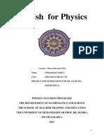 Tugas English for Physics Finish