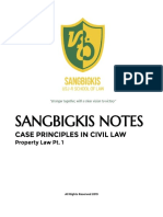 Sangbigkis Notes Property Law Pt. 1