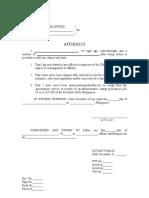Affidavit of Relationship