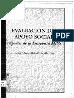 Evaluacion Del Apoyo Social Aportes de La Entrevista Miss