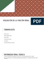 9. Evaluación de La Función Renal