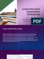 Human Resources Management Intervention