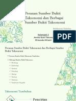 Peranan Dan Sumber Bukti Taksonomi