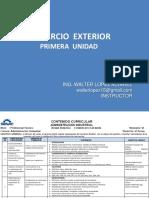 PRESENTACION  CURSO DE COMERCIO EXTERIOR PRIMERA UNIDAD V3  2019-2.pptx