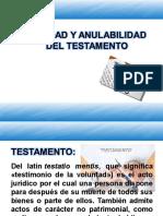 Nulidad y Anulabilidad Del Testamento - Copia