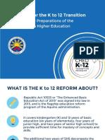 Feb 4 2016 - K to 12 Presentation