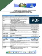 AGENDA 8° Congreso Internacional por el Desarrollo Sostenible y el Medio Ambiente